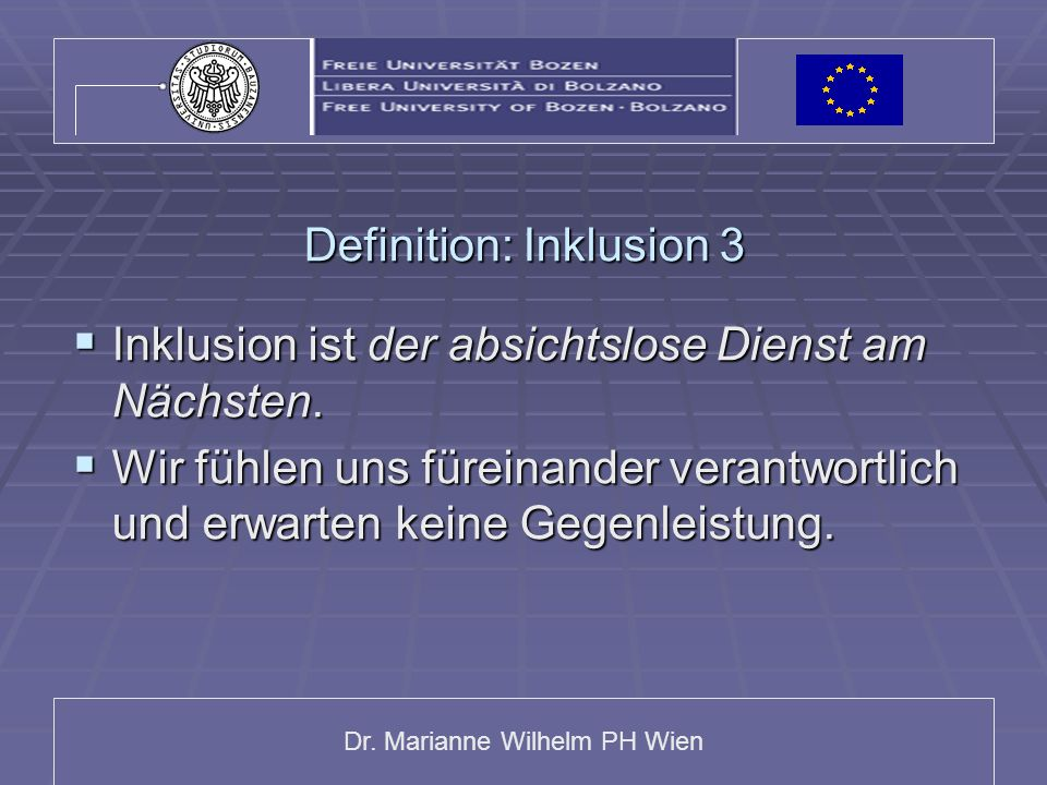 Definition: Inklusion 3