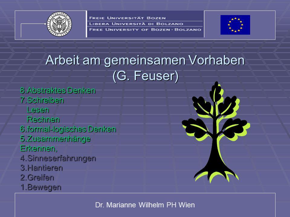 Arbeit am gemeinsamen Vorhaben (G. Feuser)