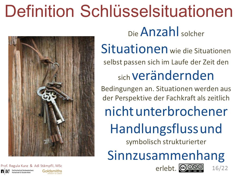 Definition Schlüsselsituationen