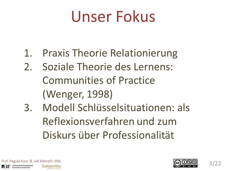 Unser Fokus Praxis Theorie Relationierung