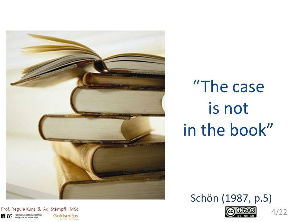 The case is not in the book Schön (1987, p.5)