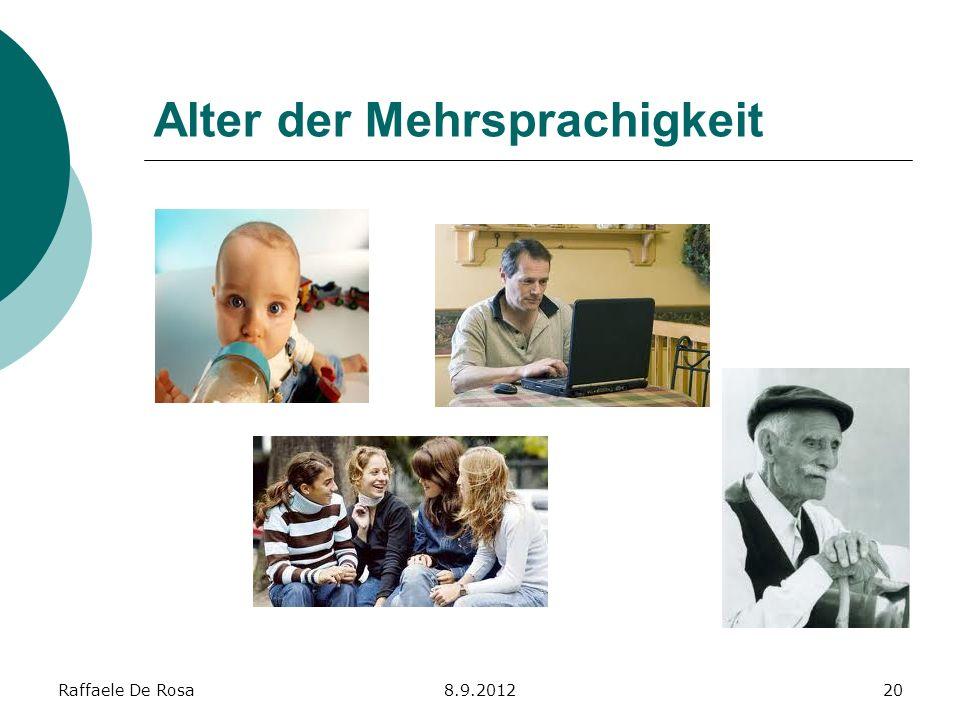 Alter der Mehrsprachigkeit