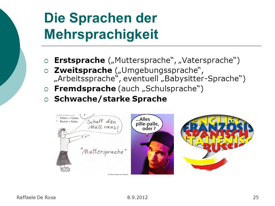 Die Sprachen der Mehrsprachigkeit