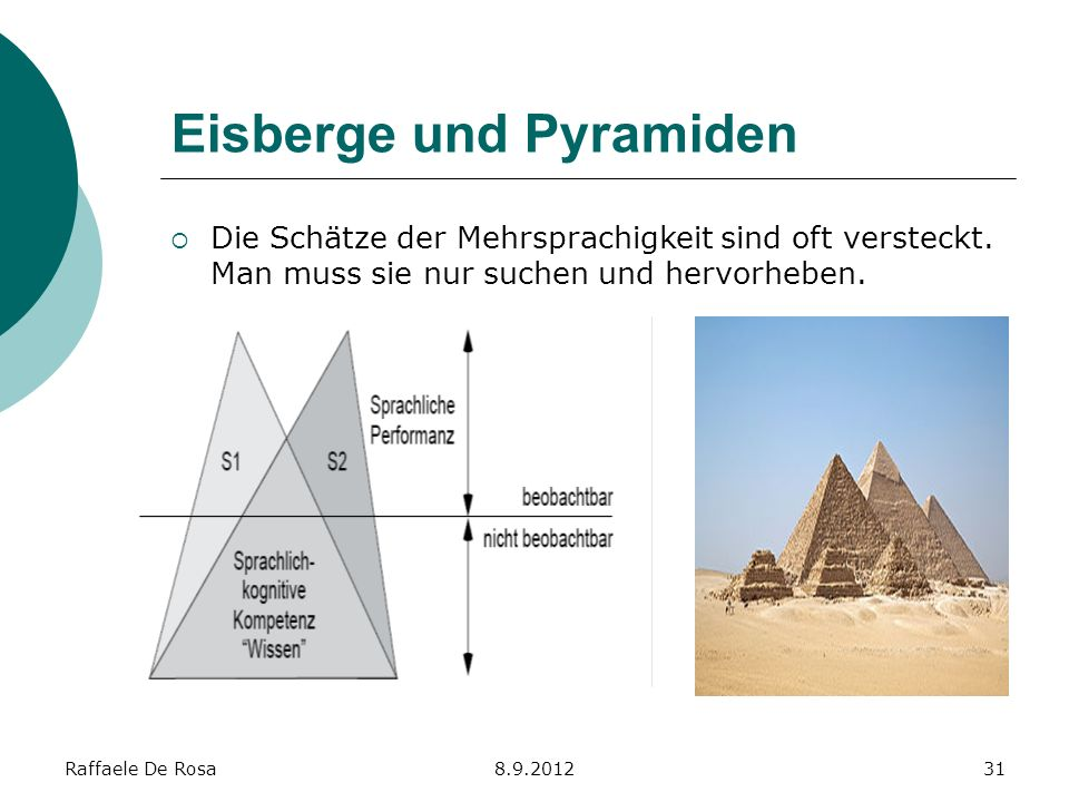 Eisberge und Pyramiden