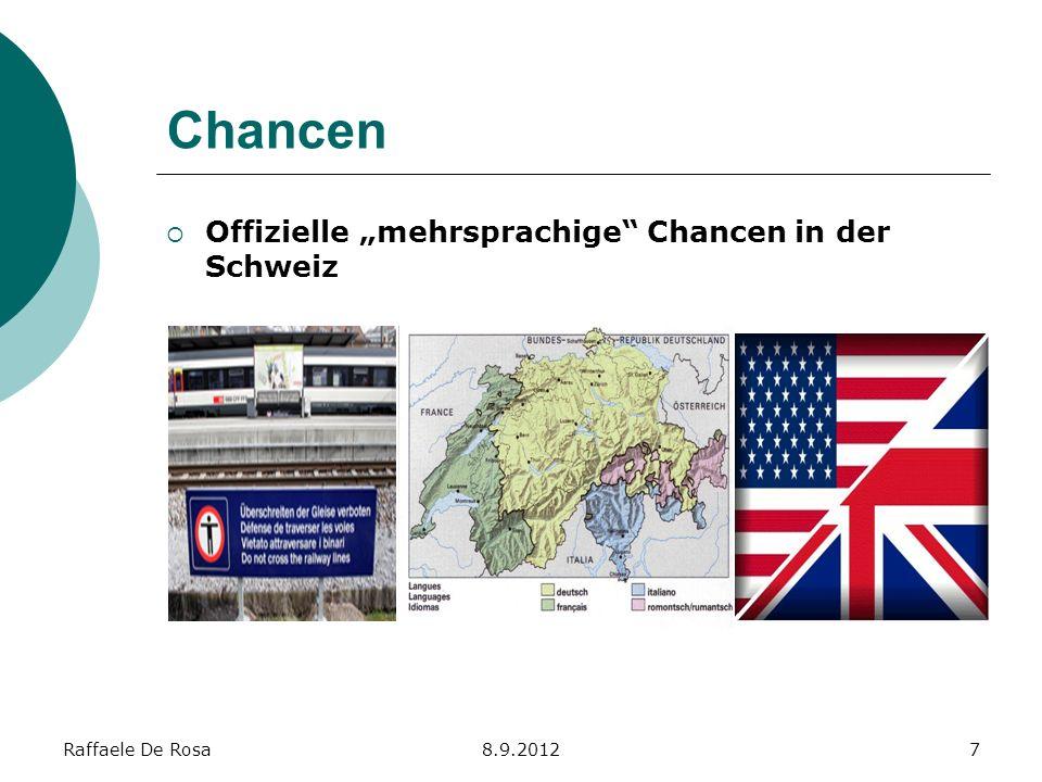 """Chancen Offizielle """"mehrsprachige Chancen in der Schweiz"""