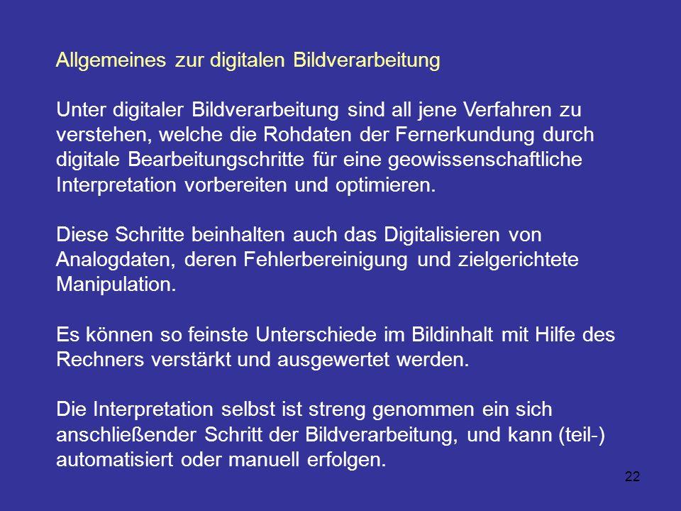 Allgemeines zur digitalen Bildverarbeitung