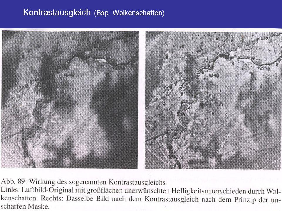 Kontrastausgleich (Bsp. Wolkenschatten)