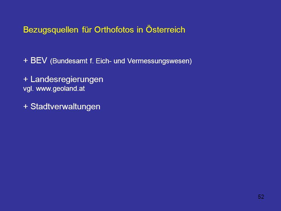 Bezugsquellen für Orthofotos in Österreich