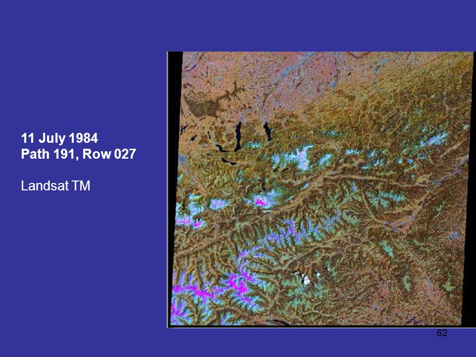 11 July 1984 Path 191, Row 027 Landsat TM