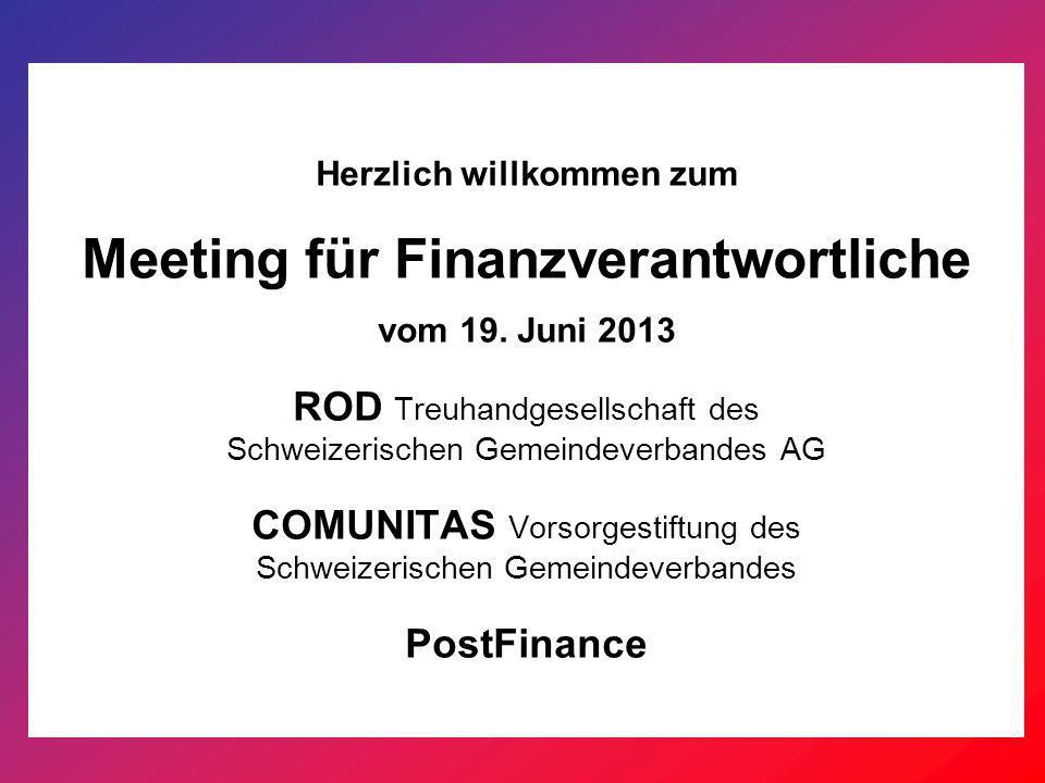 Herzlich willkommen zum Meeting für Finanzverantwortliche vom 19