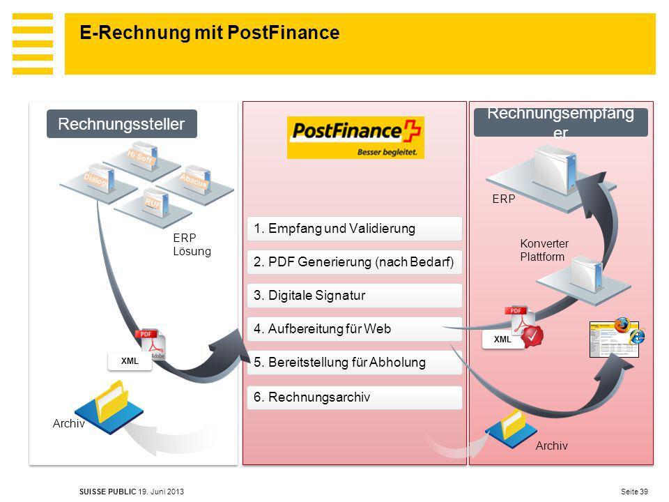 E-Rechnung mit PostFinance