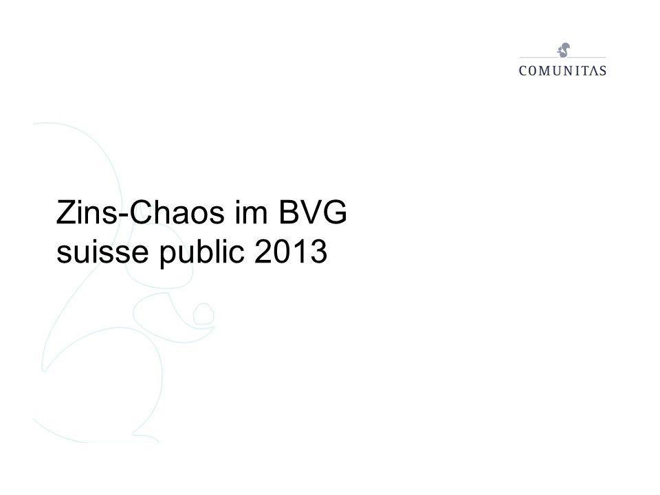 Zins-Chaos im BVG suisse public 2013