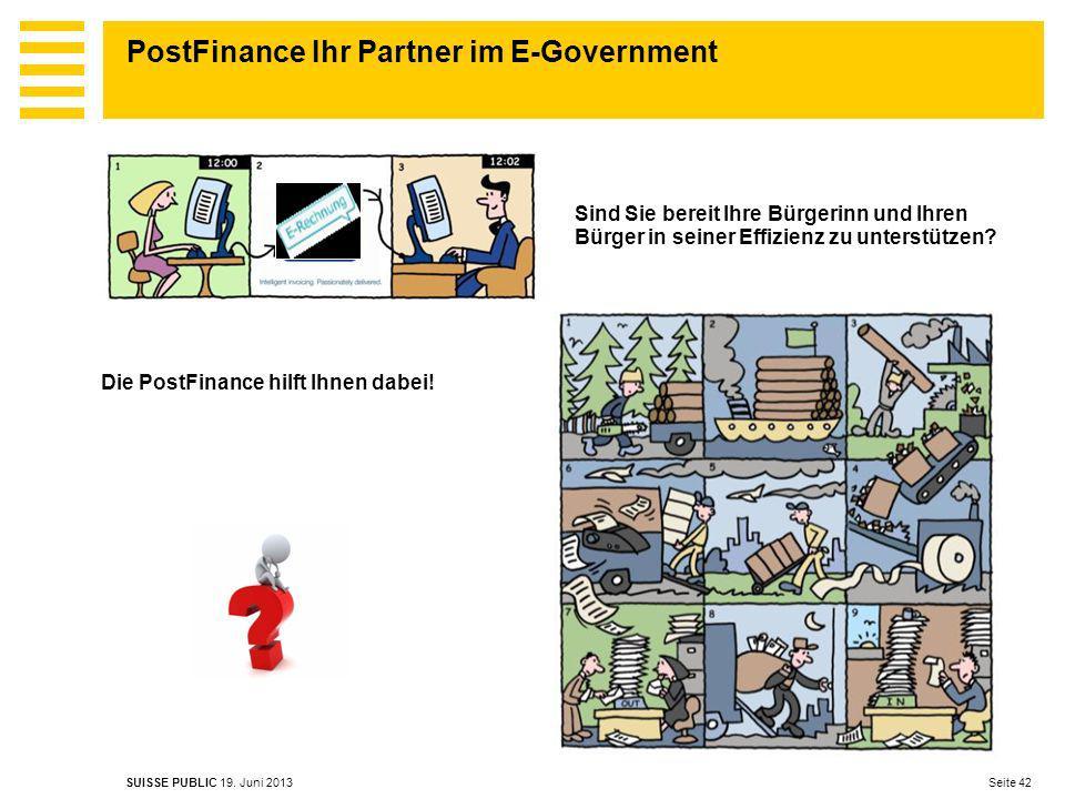PostFinance Ihr Partner im E-Government