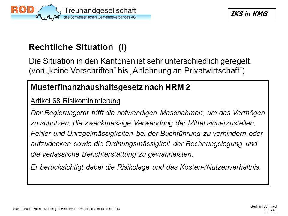 Rechtliche Situation (I)
