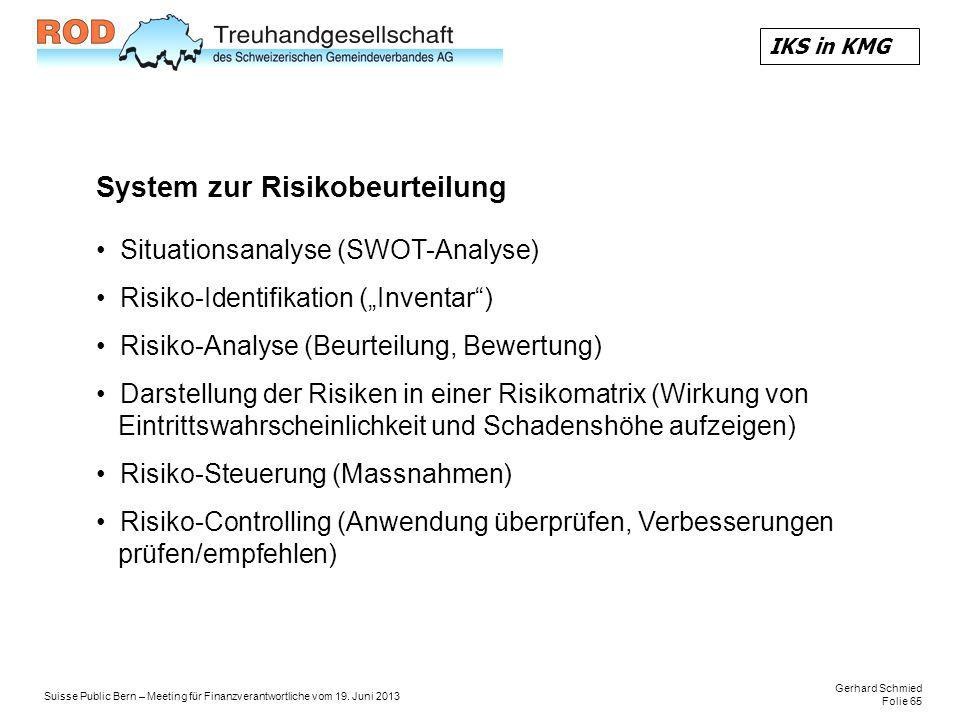 System zur Risikobeurteilung