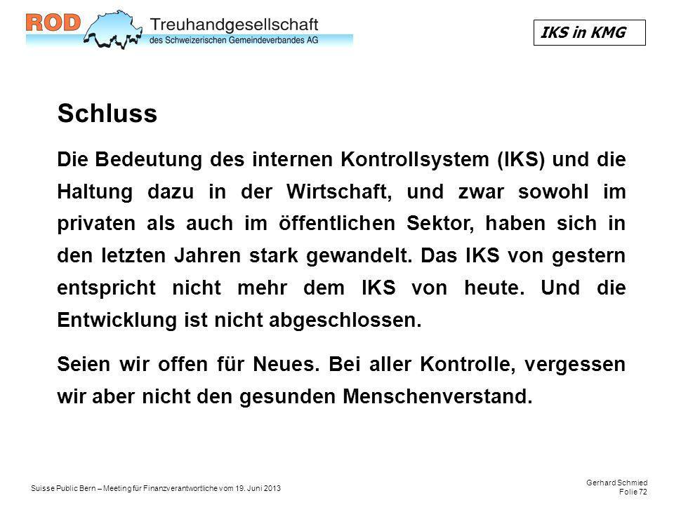 IKS in KMG Schluss.