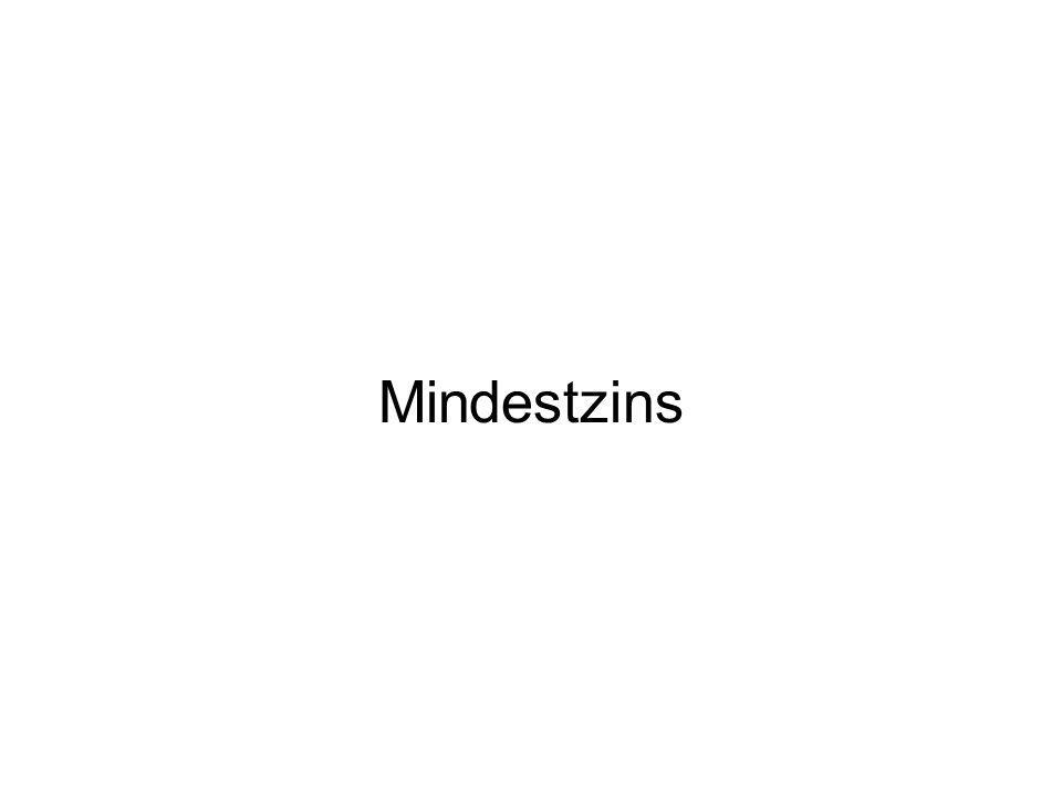 Mindestzins