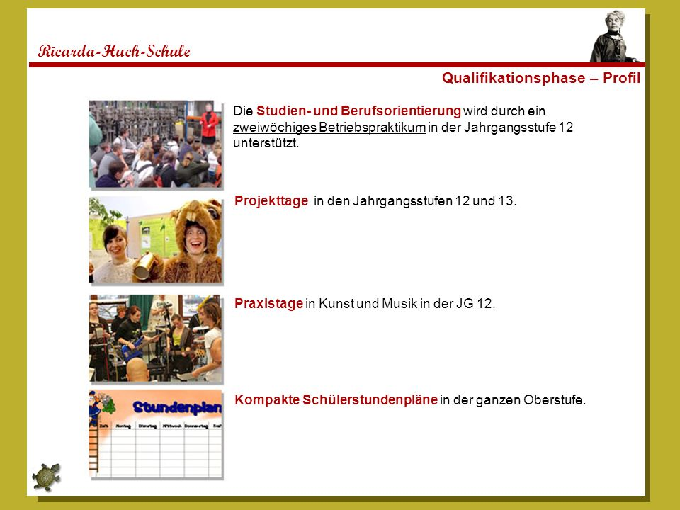 Ricarda-Huch-Schule Qualifikationsphase – Profil