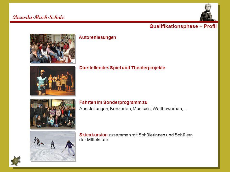 Ricarda-Huch-Schule Qualifikationsphase – Profil Autorenlesungen