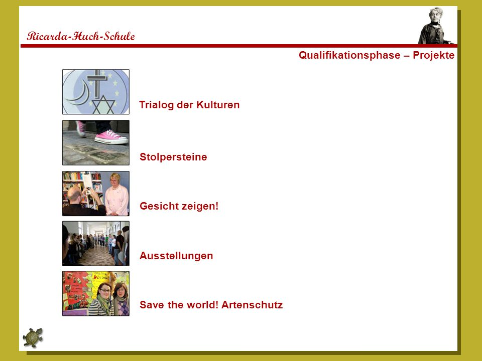 Ricarda-Huch-Schule Qualifikationsphase – Projekte