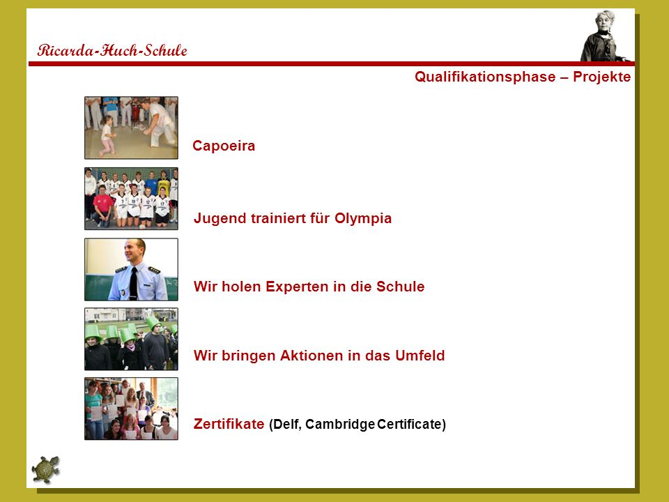 Ricarda-Huch-Schule Qualifikationsphase – Projekte Capoeira