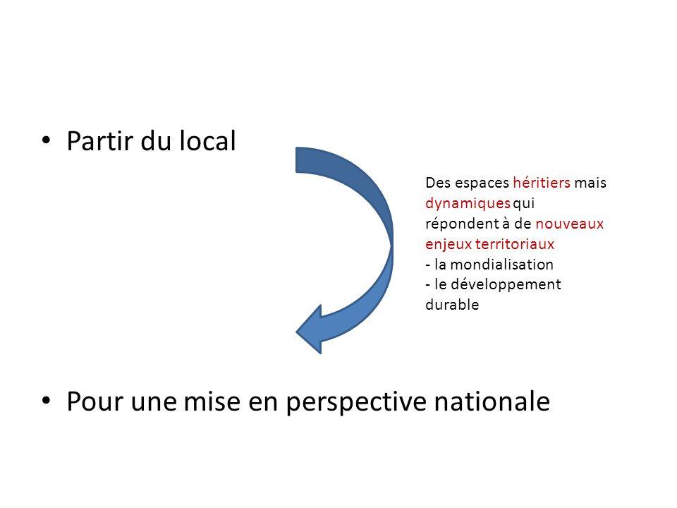 Pour une mise en perspective nationale