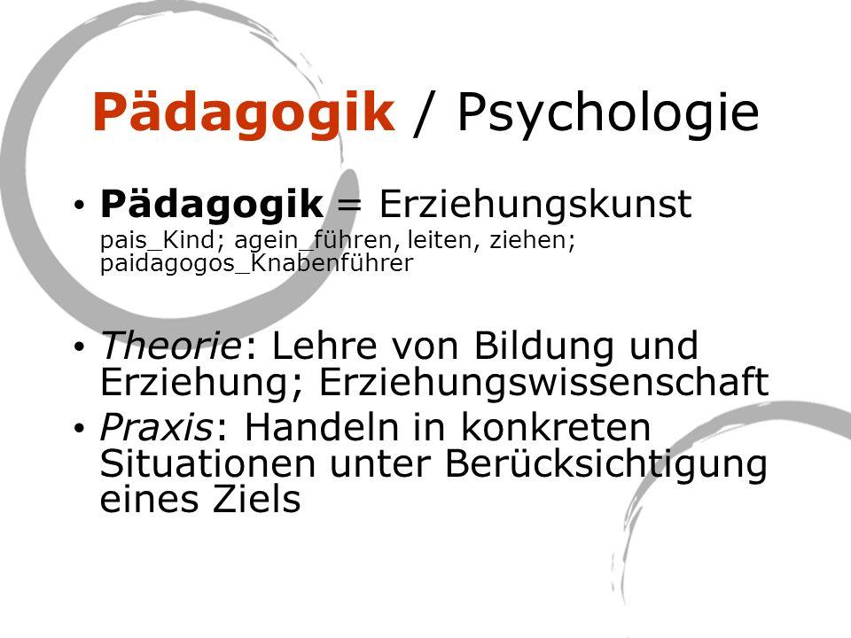 Pädagogik / Psychologie