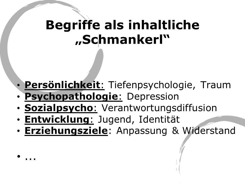 """Begriffe als inhaltliche """"Schmankerl"""