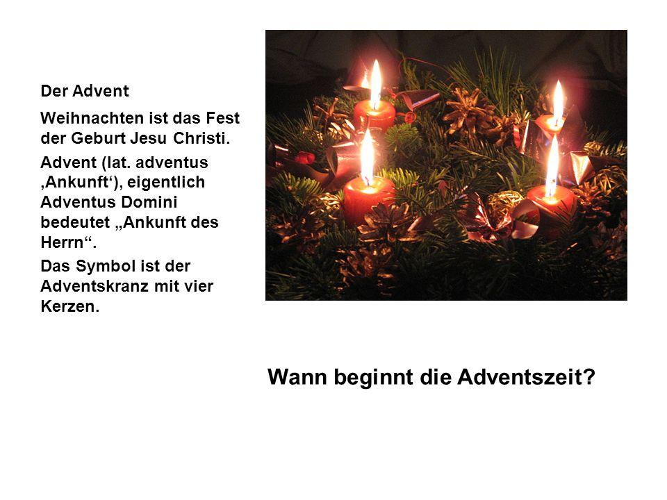 Wann beginnt die Adventszeit