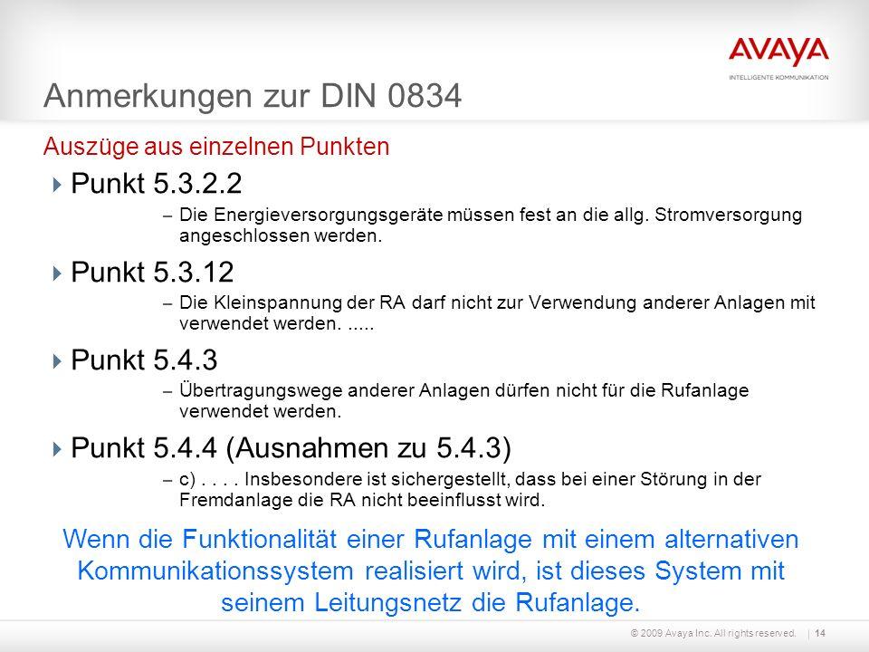 Anmerkungen zur DIN 0834 Punkt 5.3.2.2 Punkt 5.3.12 Punkt 5.4.3