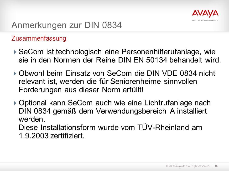 Anmerkungen zur DIN 0834 Zusammenfassung.