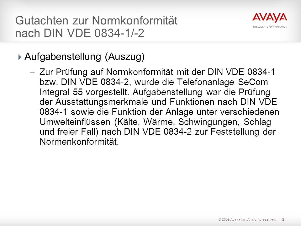 Gutachten zur Normkonformität nach DIN VDE 0834-1/-2