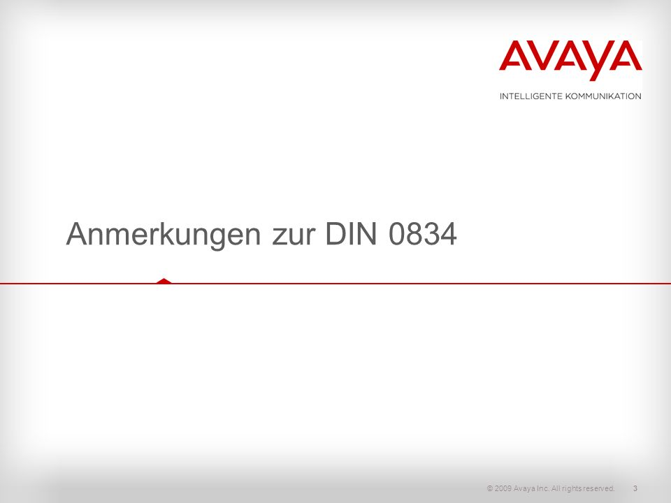 Anmerkungen zur DIN 0834