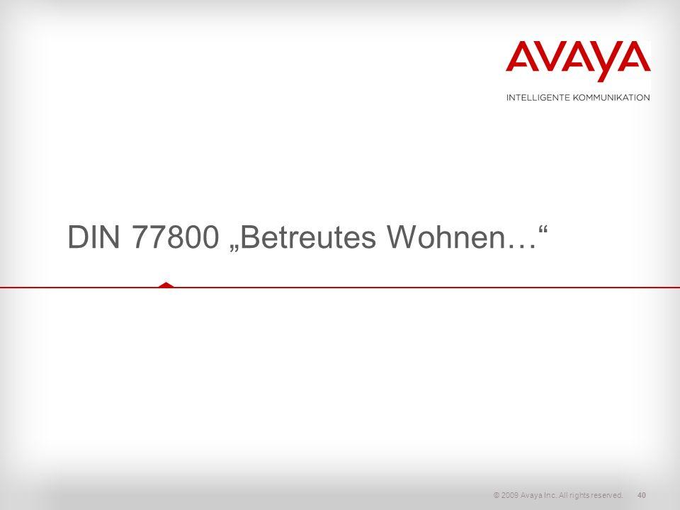 """DIN 77800 """"Betreutes Wohnen…"""