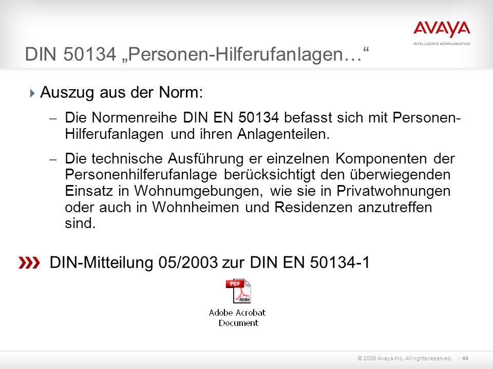 """DIN 50134 """"Personen-Hilferufanlagen…"""