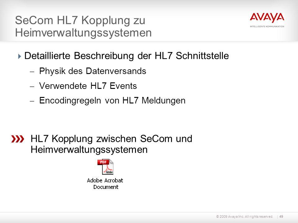 SeCom HL7 Kopplung zu Heimverwaltungssystemen