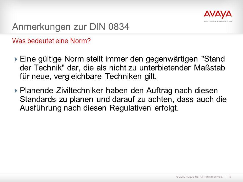 Anmerkungen zur DIN 0834 Was bedeutet eine Norm
