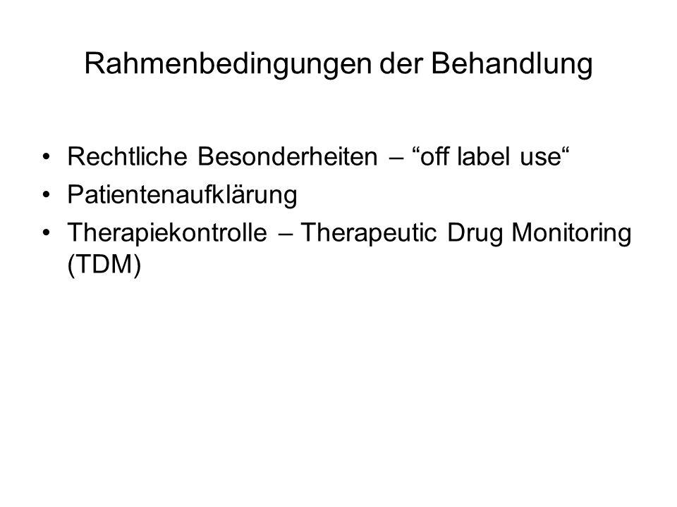 Rahmenbedingungen der Behandlung