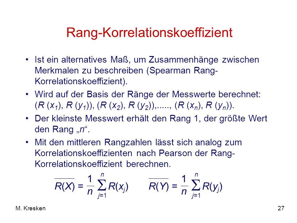 Rang-Korrelationskoeffizient