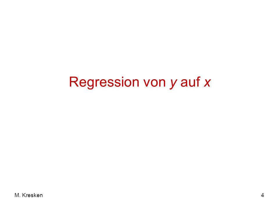 Regression von y auf x M. Kresken