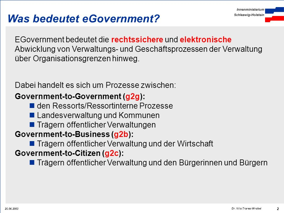 Was bedeutet eGovernment