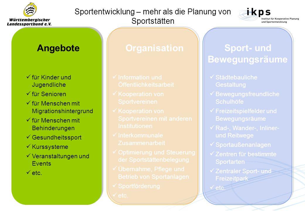 Sportentwicklung – mehr als die Planung von Sportstätten