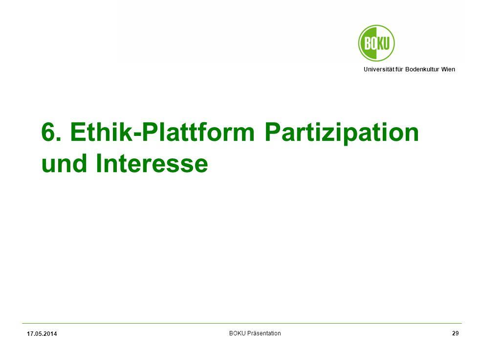 6. Ethik-Plattform Partizipation und Interesse