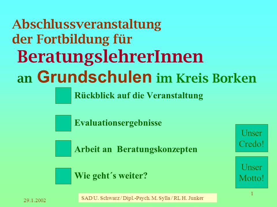 Abschlussveranstaltung der Fortbildung für BeratungslehrerInnen an Grundschulen im Kreis Borken