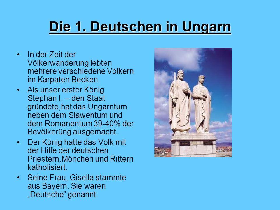 Die 1. Deutschen in Ungarn