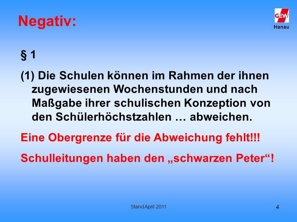 Negativ: § 1.