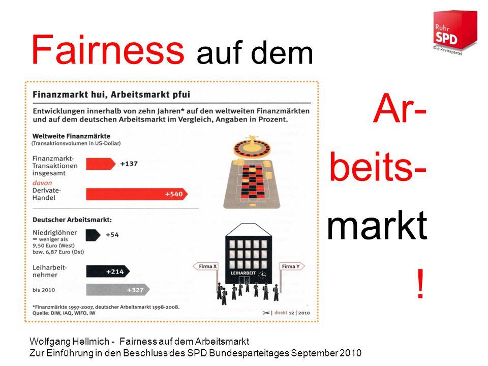 Fairness auf dem Ar- beits- markt !