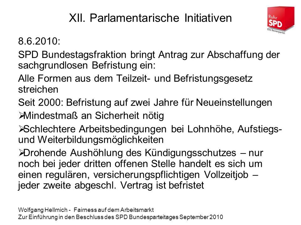 XII. Parlamentarische Initiativen