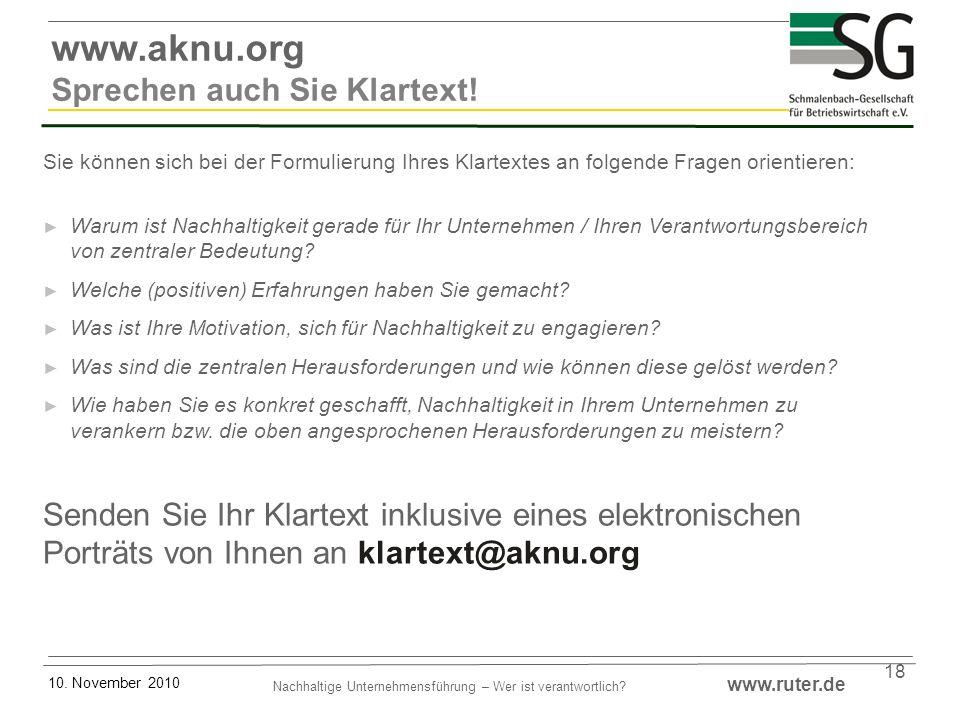 www.aknu.org Sprechen auch Sie Klartext!