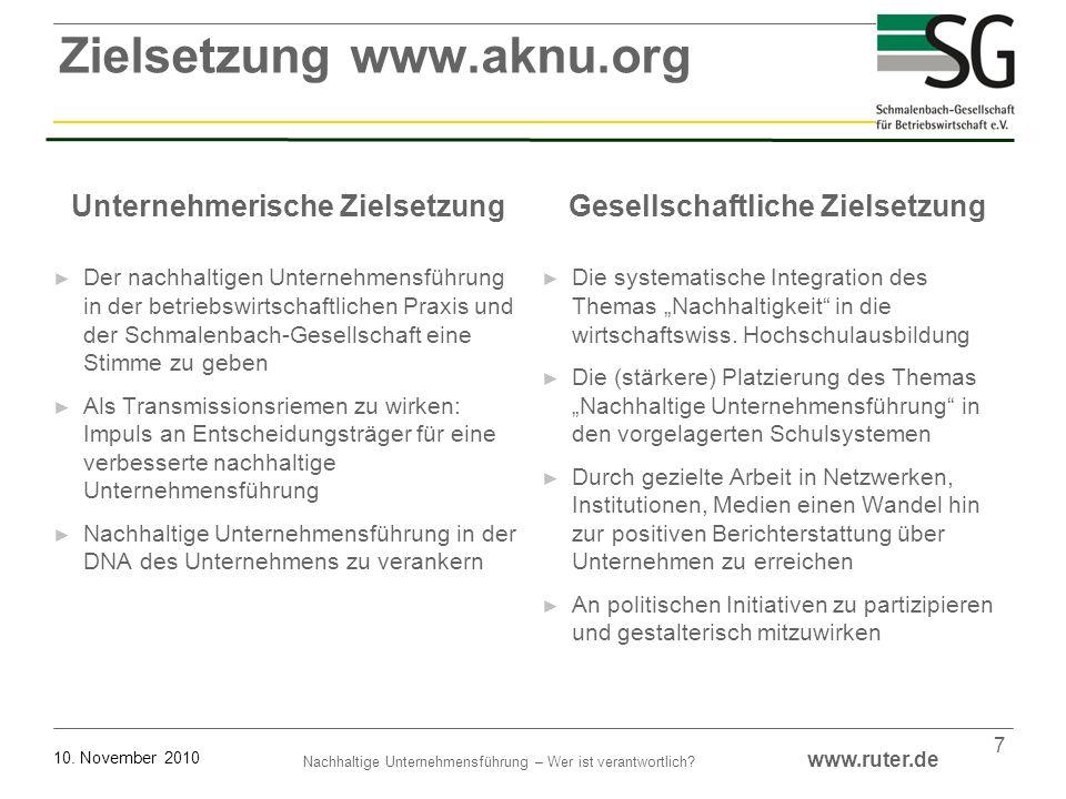Zielsetzung www.aknu.org